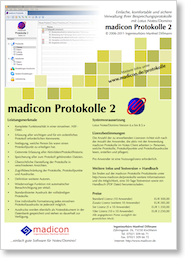 madicon Protokolle Flyer